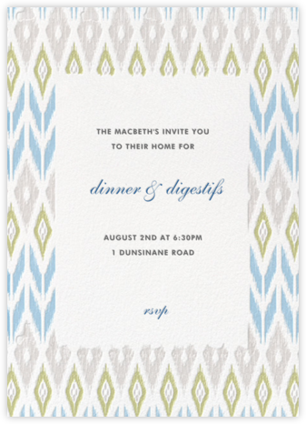 Ikat - Spring Rain/Oyster - Paperless Post - Invitations