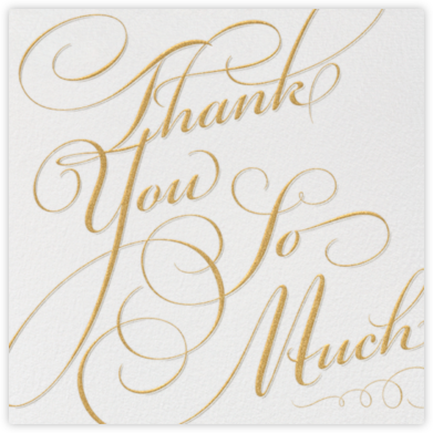 Script - Thank You So Much - Paperless Post - Wedding thank you cards