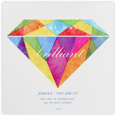 Glittering Congrats - Paperless Post - Congratulations cards