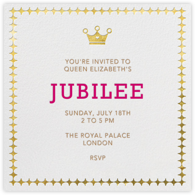 Royal Glam - Ivory - Jonathan Adler - Online Kids' Birthday Invitations