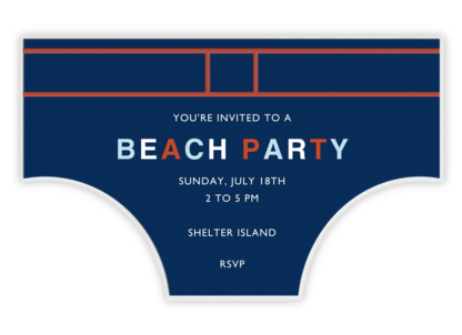 Seaside Skivvies - Jonathan Adler - Summer entertaining invitations