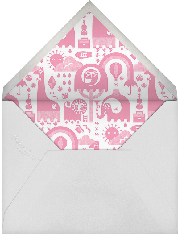 Circus Elephants - Pink - Jonathan Adler - Baby shower - envelope back