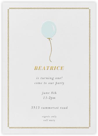 Balloon Onesie - Blue - Paper + Cup - Birthday invitations