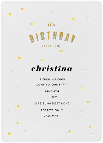Birthday Party Time - Paper + Cup -
