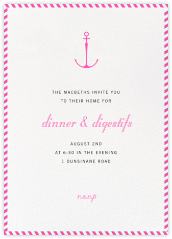 Stripe Border - Schiaparelli - Paperless Post - Invitations