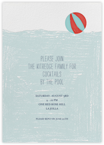 Deep End - Mr. Boddington's Studio - Pool Party Invitations