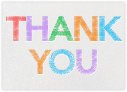 Thank You Stitches - Paperless Post - Greeting cards