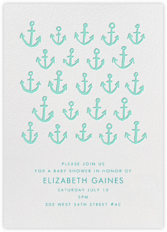 Maritime - Green - Linda and Harriett - Pool party invitations