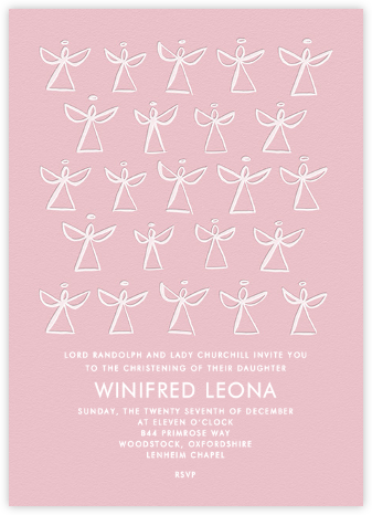 Angels - Linda and Harriett - Christening Invitations