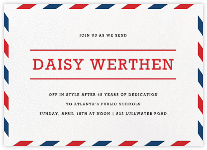Par Avion (Horizontal) - Paperless Post - Celebration invitations