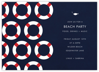 Little Lifesaver - Paper + Cup - Summer Party Invitations