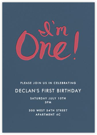 I'm One - Red - Linda and Harriett - First Birthday Invitations
