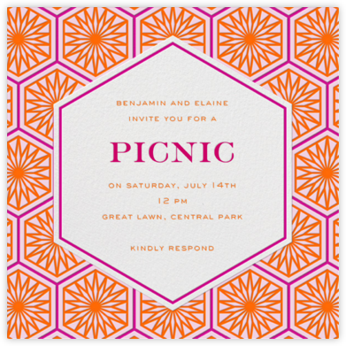 Positano - Pink - Jonathan Adler - Summer entertaining invitations