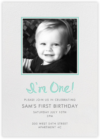 I'm One (Photo) - Green - Linda and Harriett - Invitations