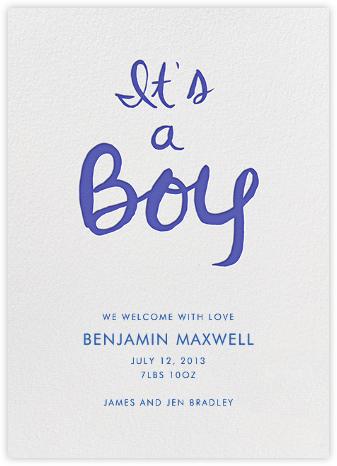 Brilliant Boy - Brilliant Blue - Linda and Harriett - Birth announcements