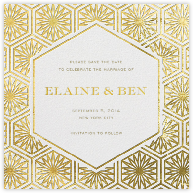 Positano - Gold - Jonathan Adler - Gold and metallic save the dates