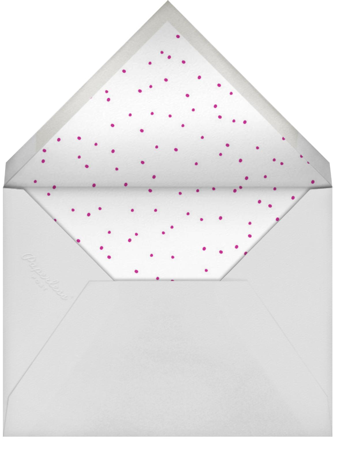 Brilliant Girl - Fuschia - Linda and Harriett - Baby shower - envelope back