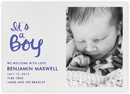 Brilliant Boy Photo - Linda and Harriett - Birth announcements