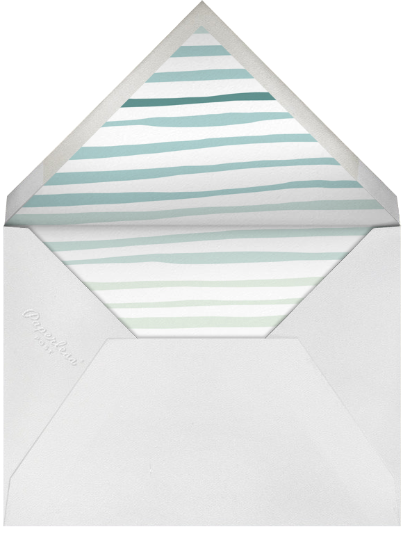The Big One - Green - Linda and Harriett - 1st birthday - envelope back