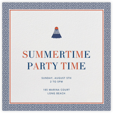 Little Birdie - Jonathan Adler - Summer entertaining invitations