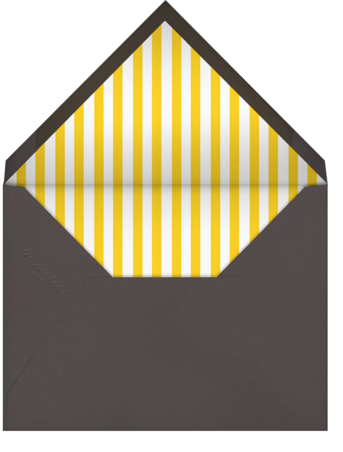 Nixon - Mustard - Jonathan Adler - Cocktail party - envelope back
