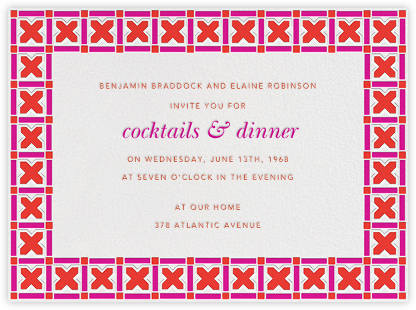 Moroccan Tiles - Jonathan Adler - Dinner party invitations