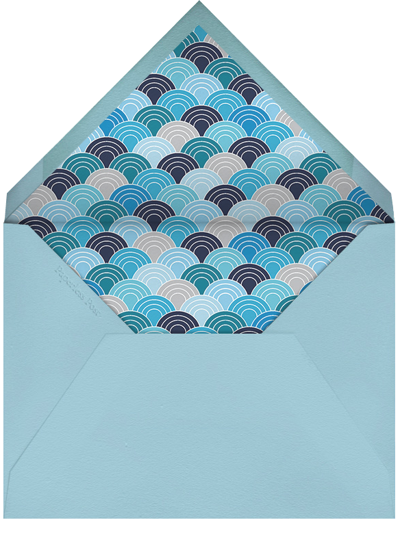 Fish Kiss - Jonathan Adler - Engagement party - envelope back