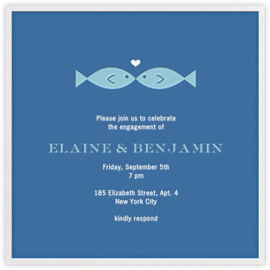 Fish Kiss - Jonathan Adler - Engagement party invitations