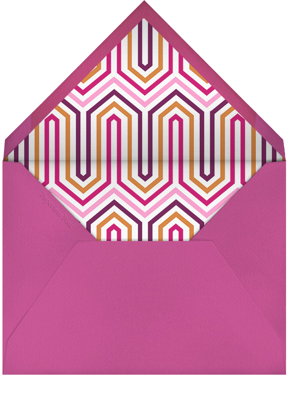 Flamingo Kiss - Jonathan Adler - Engagement party - envelope back