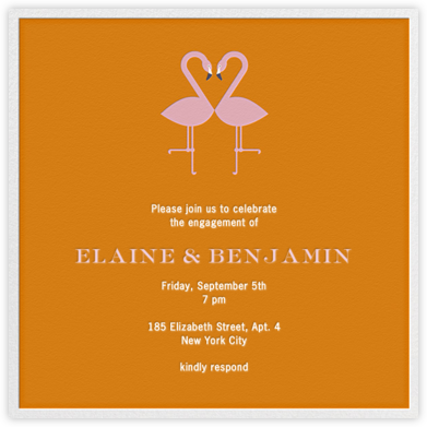 Flamingo Kiss - Jonathan Adler - Engagement party invitations