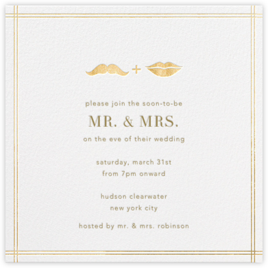 Ms. Lips and Mr. Stache - Jonathan Adler - Wedding Weekend Invitations