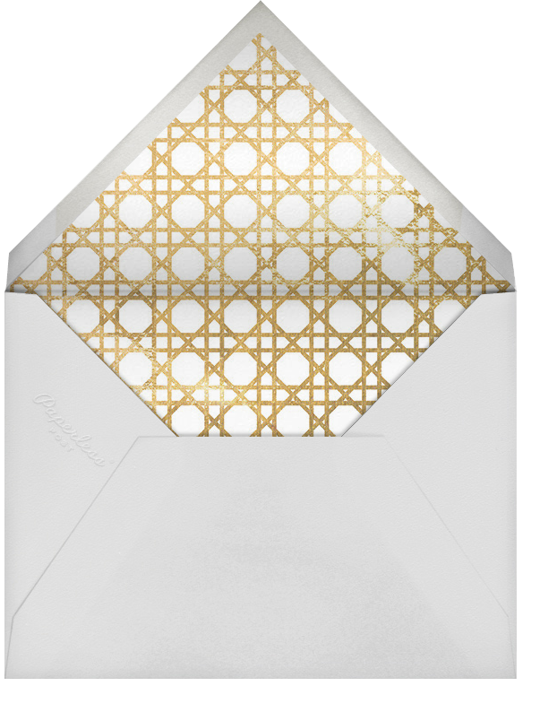 Southampton - White/Gold - Jonathan Adler - Save the date - envelope back