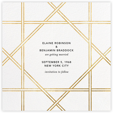 Southampton - White/Gold - Jonathan Adler - Save the dates