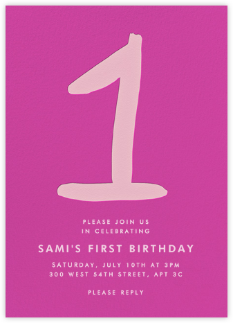 The Big One - Pink - Linda and Harriett - First Birthday Invitations