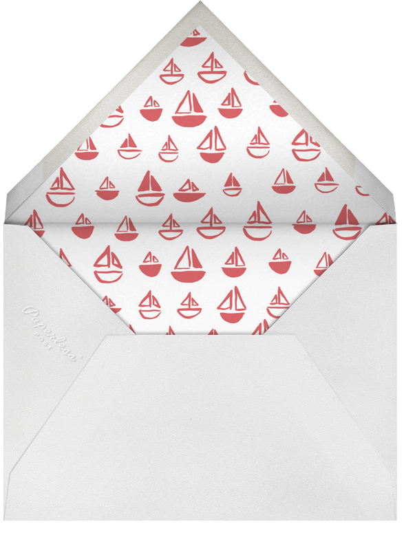 The Big One - Red - Linda and Harriett - First birthday - envelope back