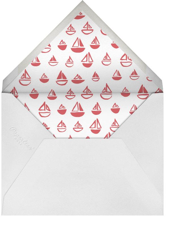 The Big One - Red - Linda and Harriett - 1st birthday - envelope back