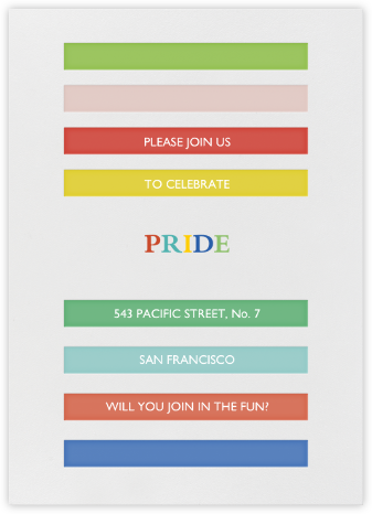 Rainbow Brights - Brights - Mr. Boddington's Studio - Pride Party Invitations