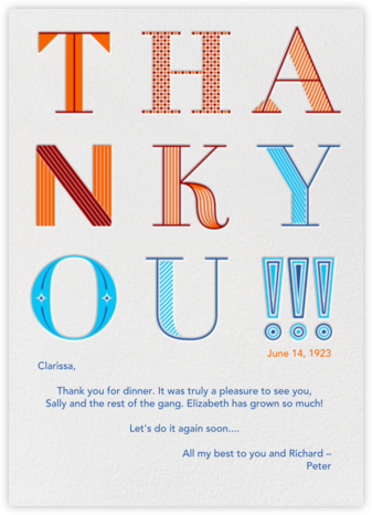 9UP Thank You!!! - Paperless Post - Thank you cards