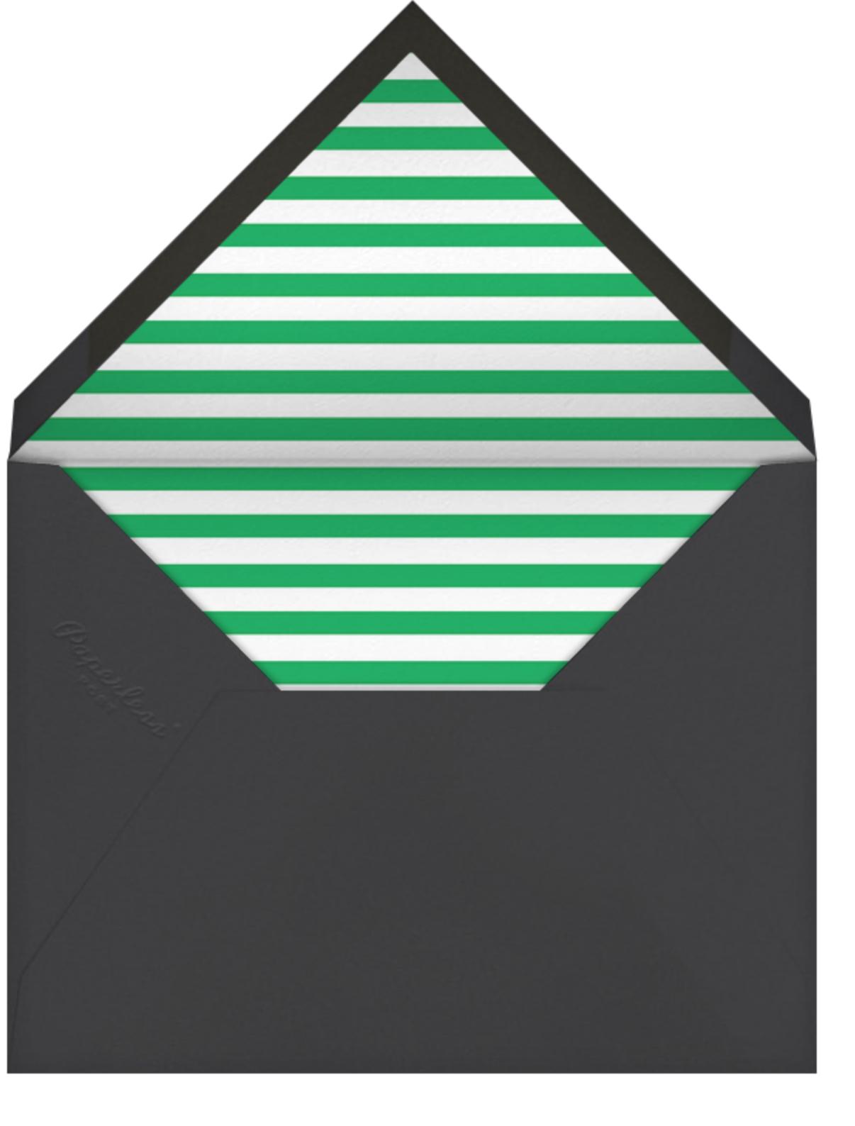 Baby Bottle - Green - The Indigo Bunting - Baby shower - envelope back