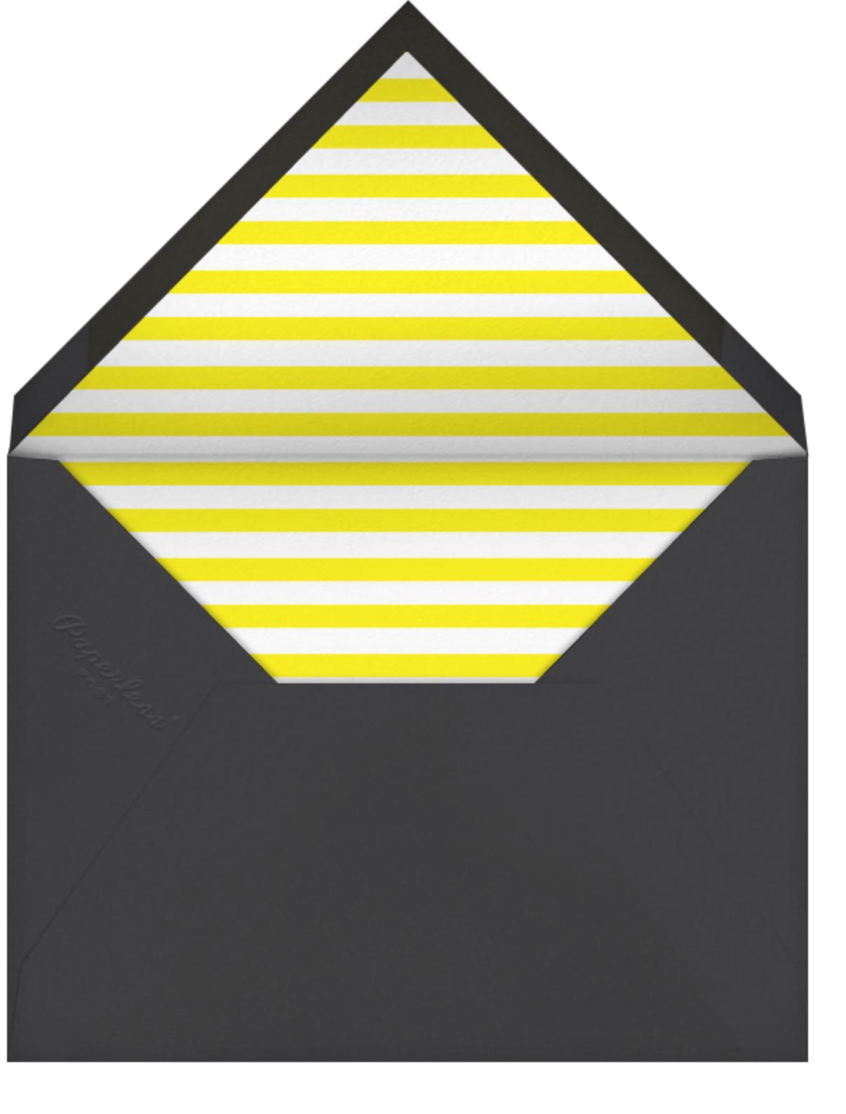 Baby Bottle - Yellow - The Indigo Bunting - Baby shower - envelope back