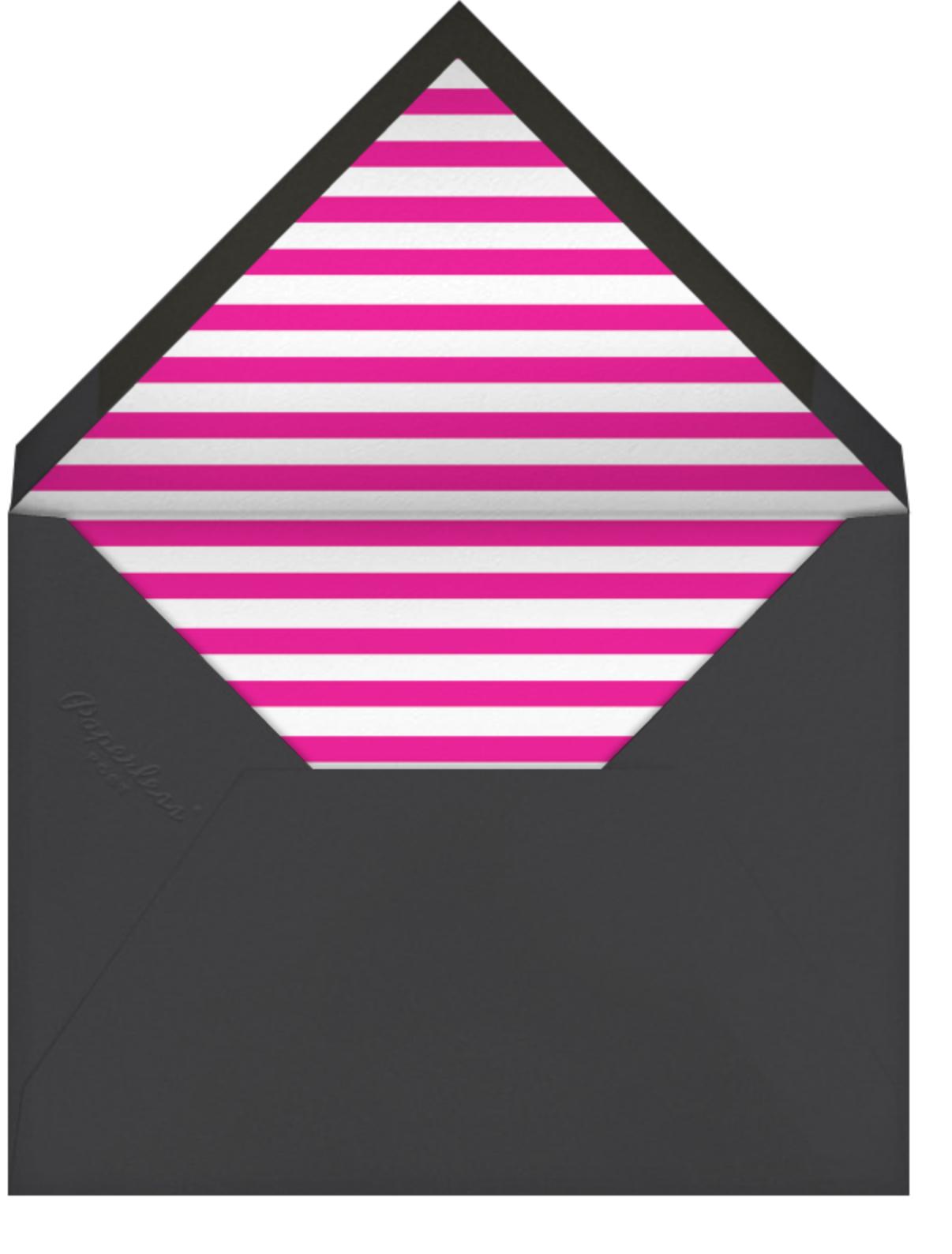 Baby Bottle - Pink - The Indigo Bunting - Baby shower - envelope back