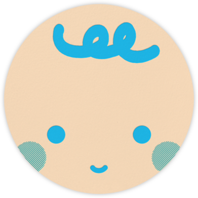 Baby Faces (Blue) - Fair - The Indigo Bunting - Baby Shower Invitations