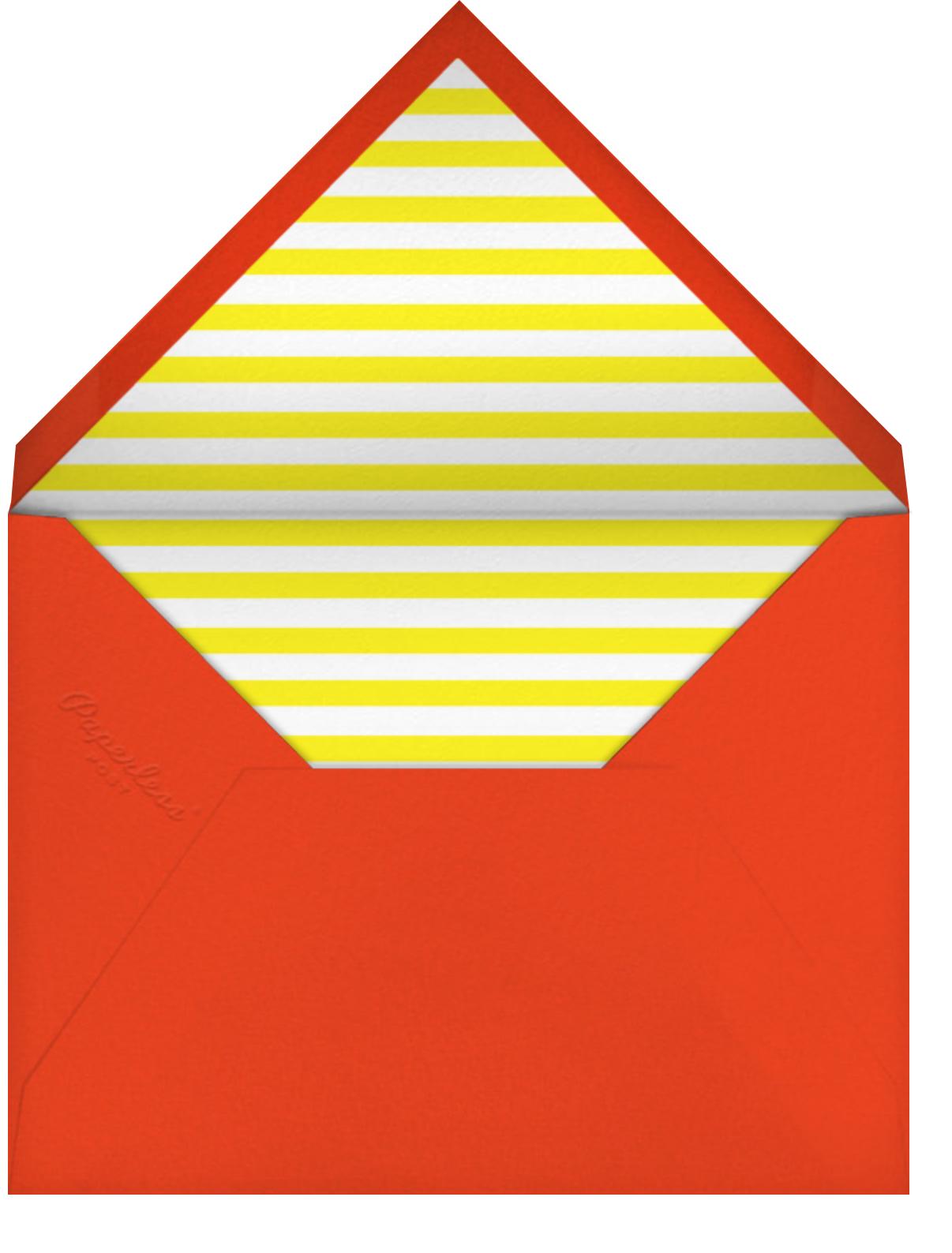 Birthday Faces (Five) - White - The Indigo Bunting - Kids' birthday - envelope back