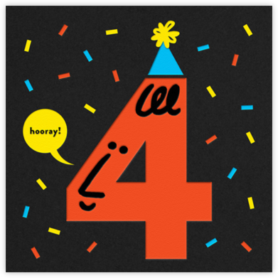 Birthday Faces (Four) - Black - The Indigo Bunting - Indigo Bunting