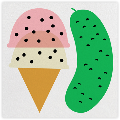 Ice Cream And Pickles - The Indigo Bunting - Baby Shower Invitations