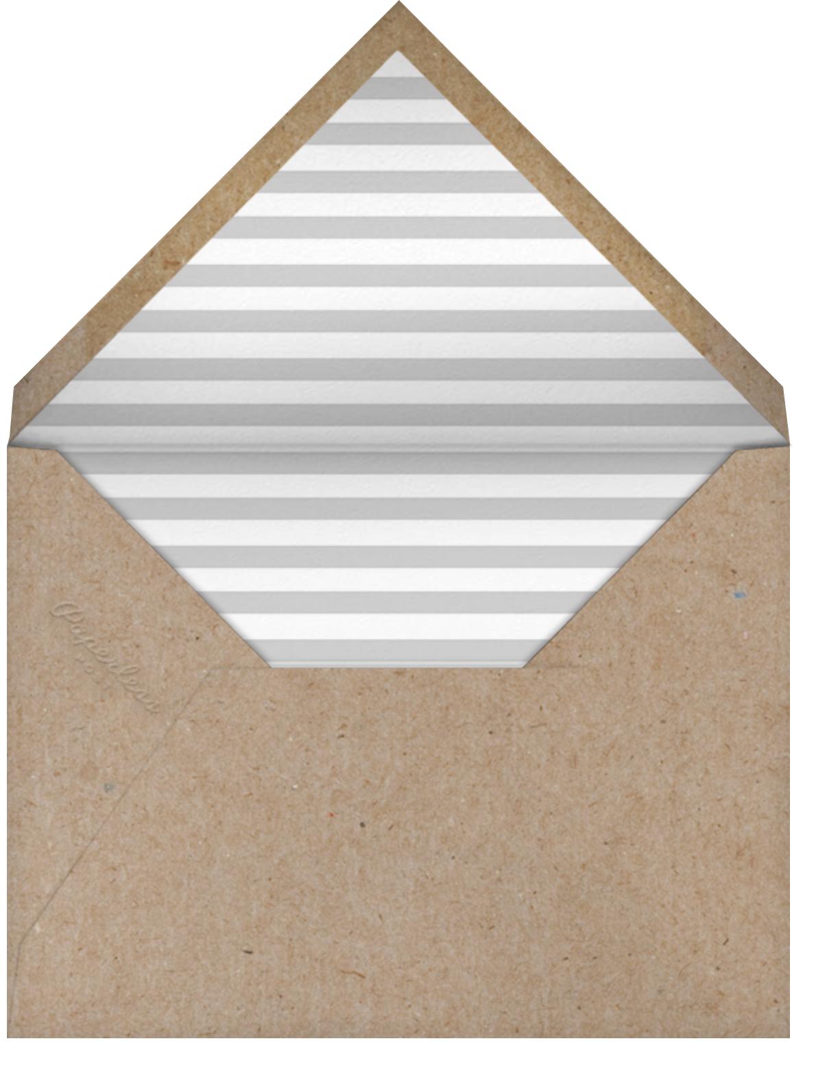 Polka Dot Baby (Thank You) - Gray - The Indigo Bunting - Alicia's Test - envelope back