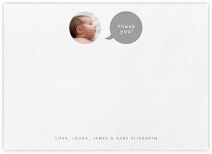 Polka Dot Baby (Thank You) - Gray - The Indigo Bunting - Kids' thank you notes