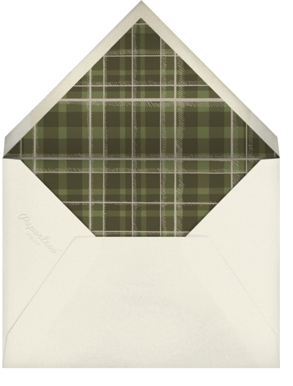 Wood Grain Dark - Square - Paperless Post - Barbecue - envelope back