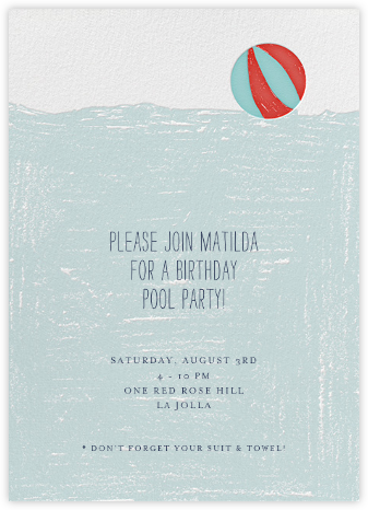 Deep End - Mr. Boddington's Studio - Birthday invitations