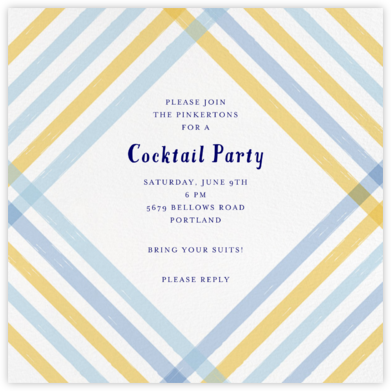 Endless Summer - Blue - Mr. Boddington's Studio - Summer Party Invitations